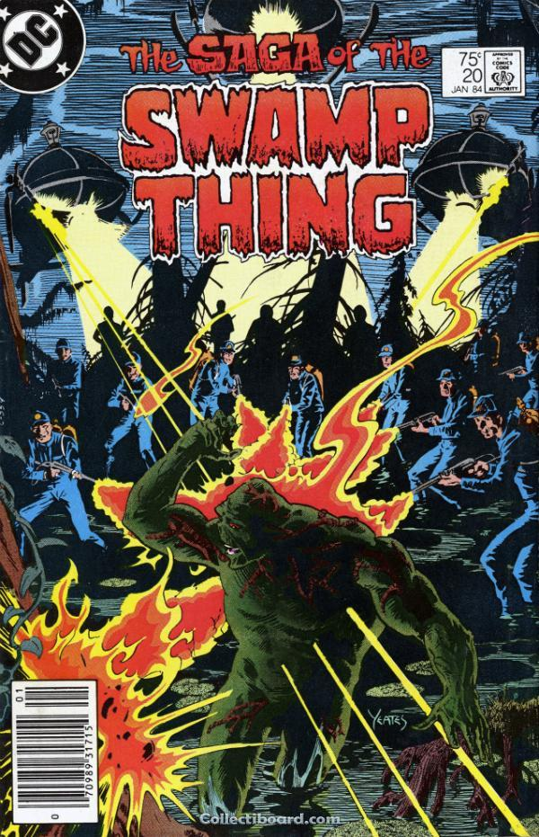 The Saga of Swamp Thing no. 20 (Jan. 1984), Debut Pertama Alan Moore dalam seri Swamp Thing.