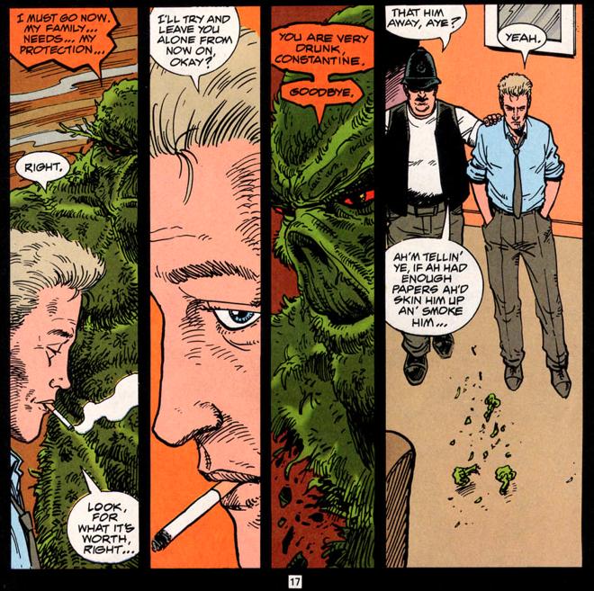 cuplikan Hellblazer no. 63, Vertigo/DC Comics. w/a: Garth Ennis, Steve Dillon.
