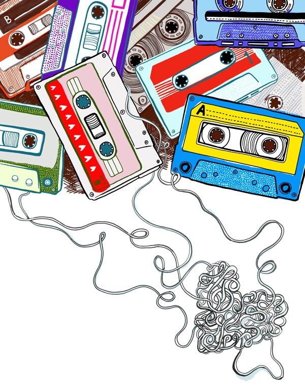 cassette art, by jess wilson. (jesswilson.co.uk)