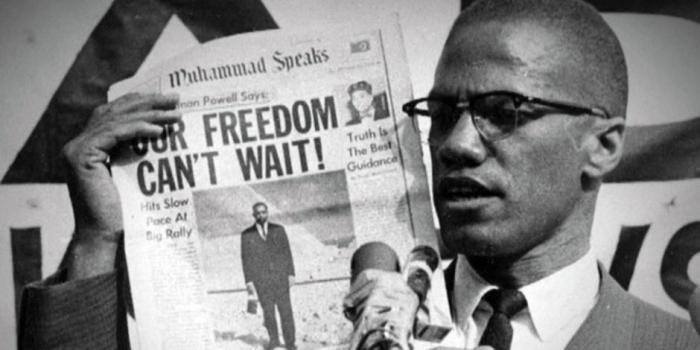 """""""Our Freedom Can't Wait!"""" Muhammad Speaks. Source: CBS (From www.baas.ac.uk)"""